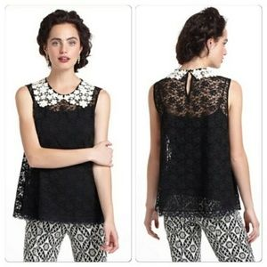 Anthropologie Peter Pan lace blouse
